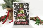 How To Create A Handmade Colored Christmas Tree Card
