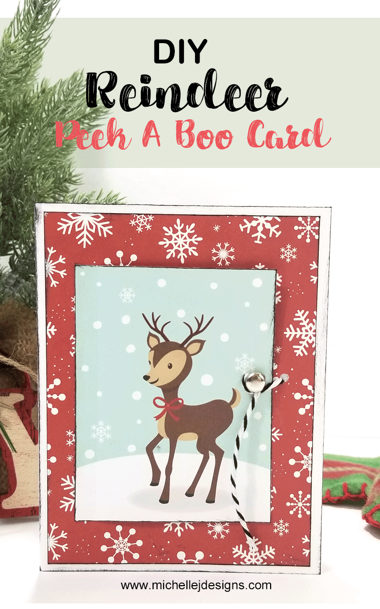 People love to receive handmade cards. In this post I am showing how to create an easy Christmas Reindeer card that opens to a fun surprise! www.michellejdesigns.com #michellejdesigns #handmadecards #echopark