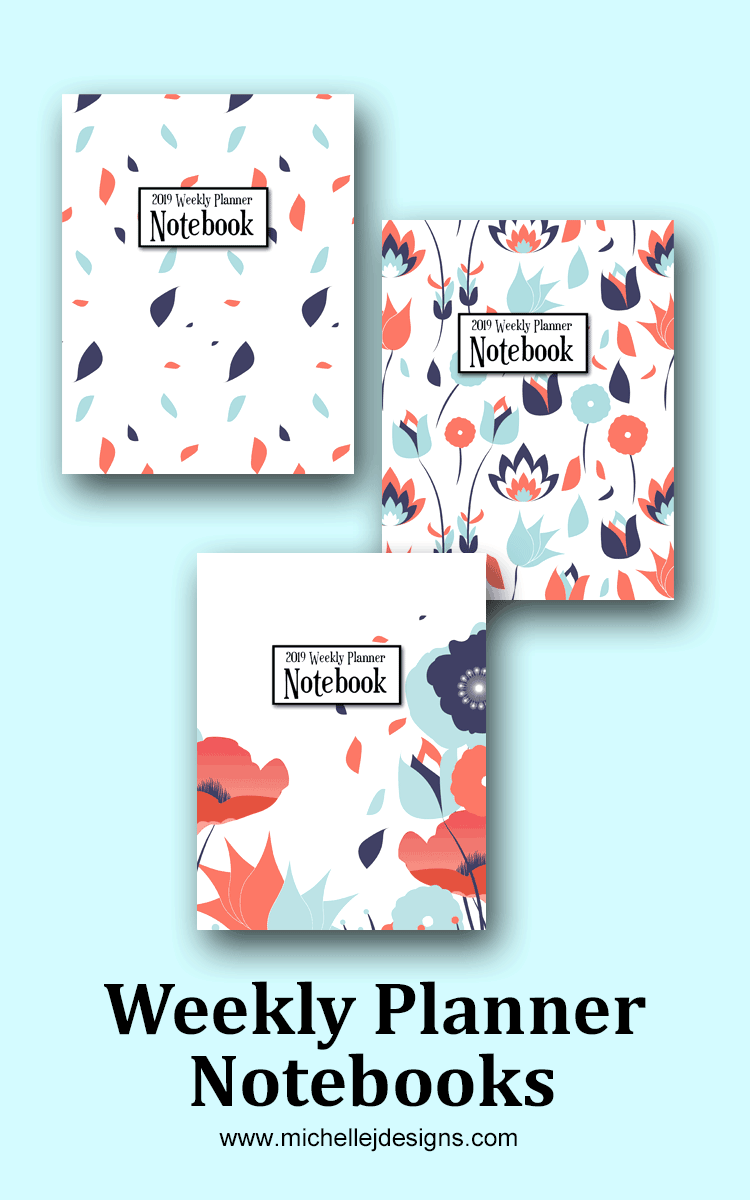 Get organized in the new year with a weekly planner notebook! There are so many fun designs. These will help organized and stay organized! - www.michellejdesigns.com #michellejdesigns #weeklyplanners #getorganized #organization