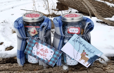 Mason Jar Winter Basic Survival Kit