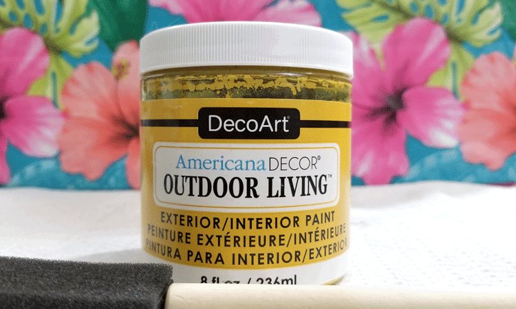 Harvest yellow Outdoor Living paint.