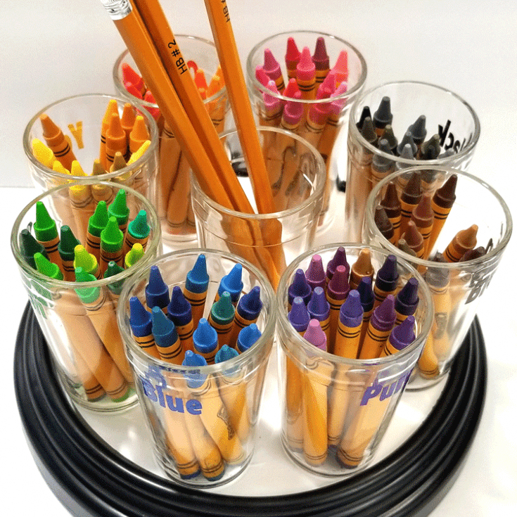 DIY Crayon Holder Carousel
