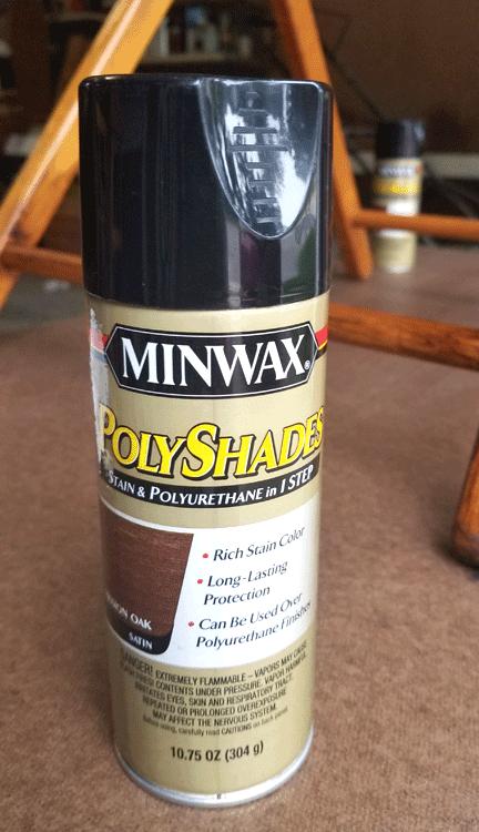 Minwax PolyShades in a spray!