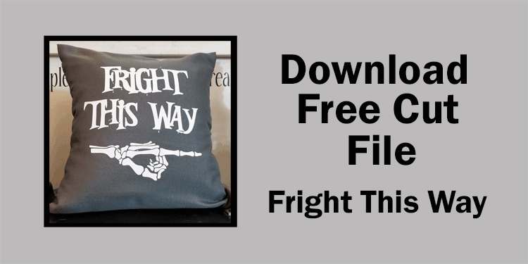 Large button to click if you want the free fall throw pillow Halloween Cut File design
