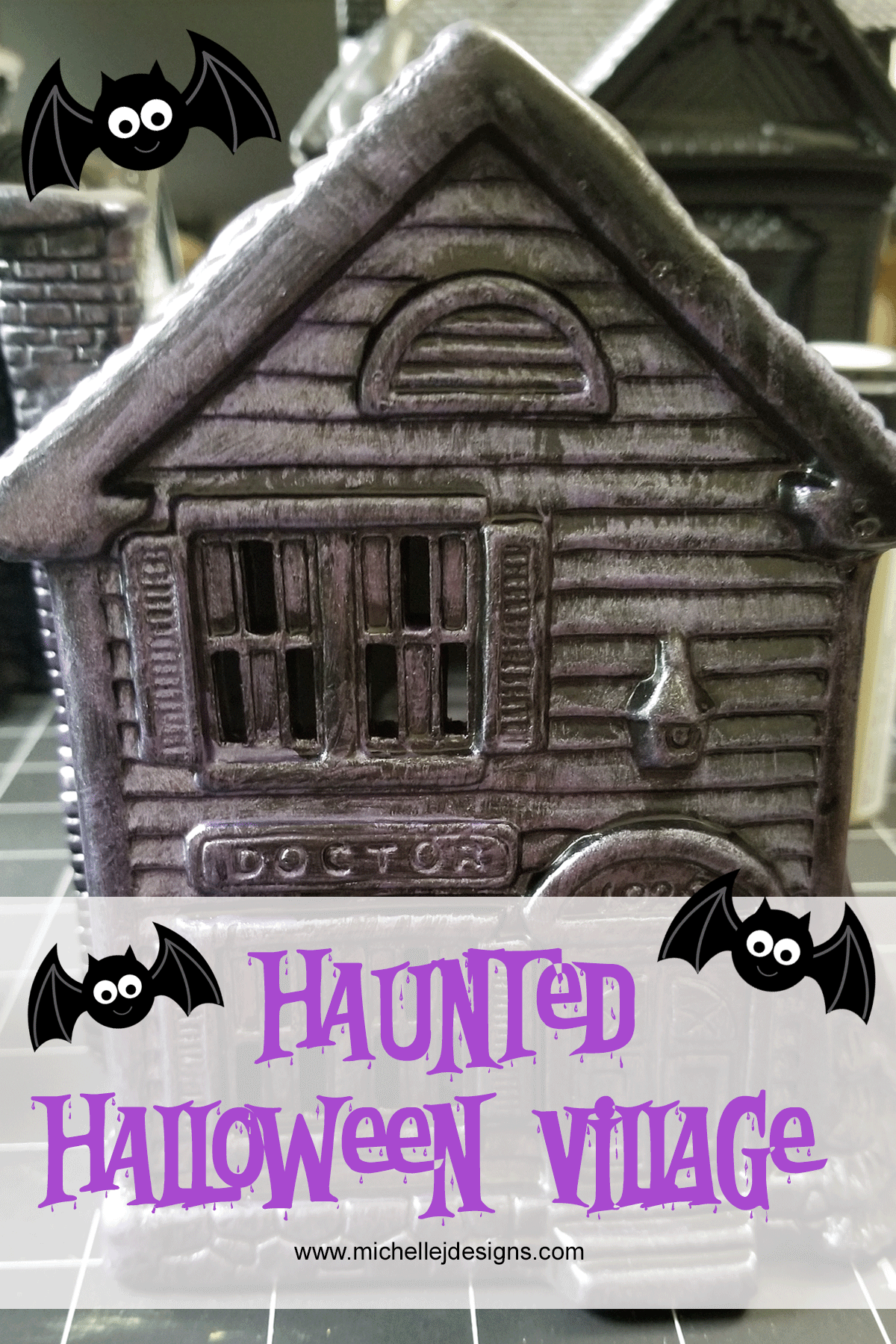 Haunted house from the haunted Halloween Village set