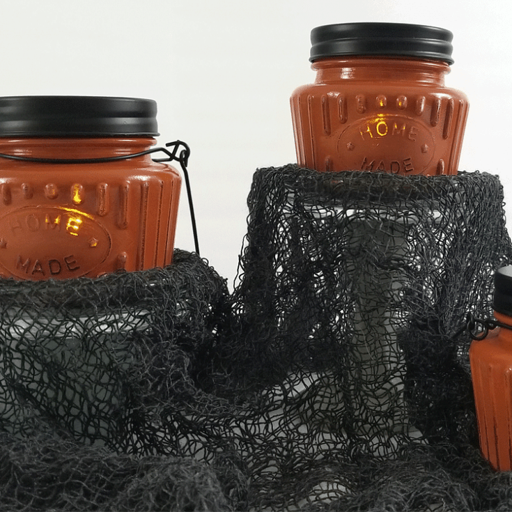Dollar Store Pumpkin Tea Light Holder