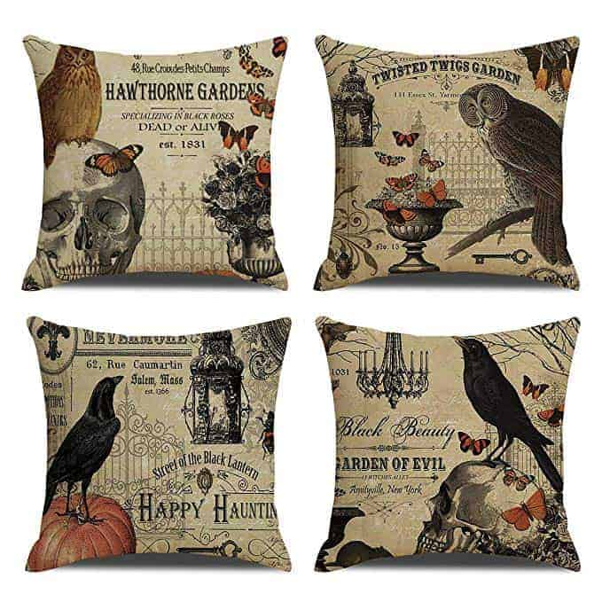 Set of four vintage Halloween Pillow Covers