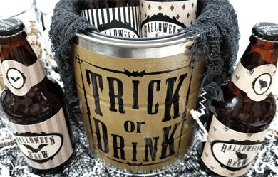 Halloween Bucket and Bottle Labels