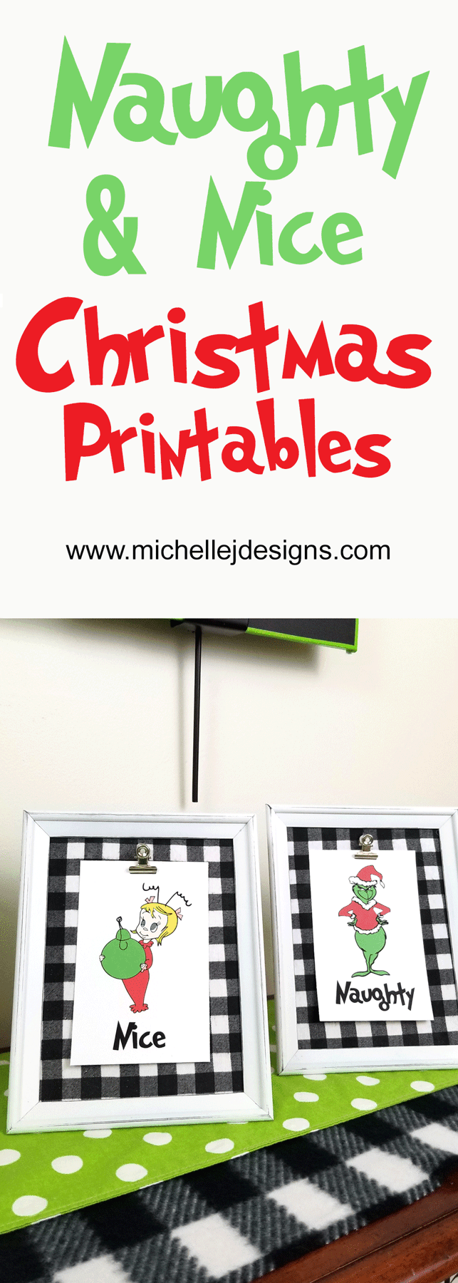 Pinnabale image with two finished Grinch frames.