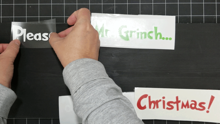 Removing the transfer tape after placing the vinyl letters