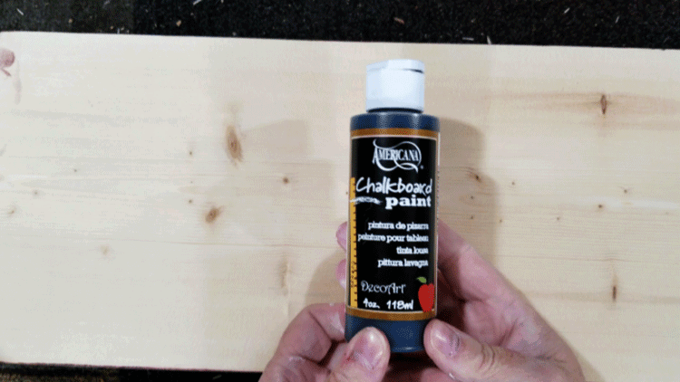 Chalkboard paint for the tops of the wood trays.