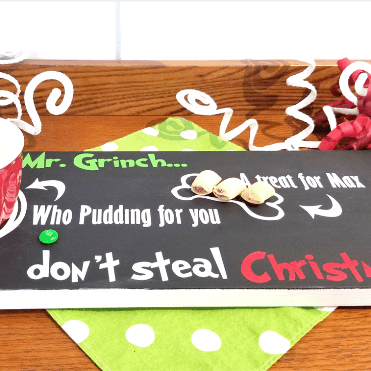 Grinch Christmas Eve Tray