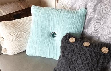DIY Cozy Sweater Pillows
