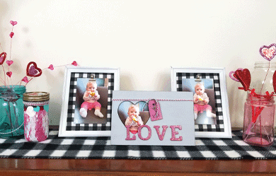 Dollar Store Picture Frames for Valentine's Day