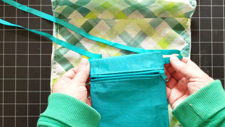 Zipper pouch I am adding to the inside of my bag.