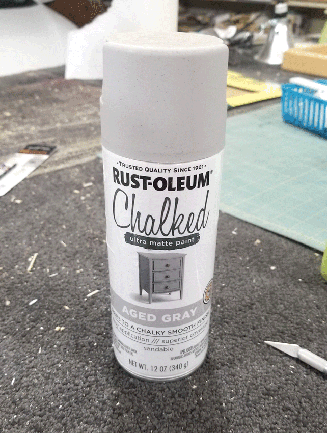 Rustoleum Spray Chalked paint can 0 Aged Gray