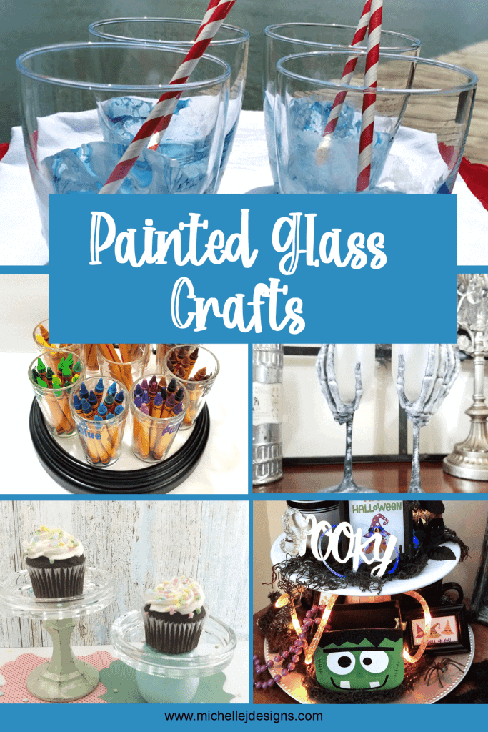 Pinterest pin with fun glass projects