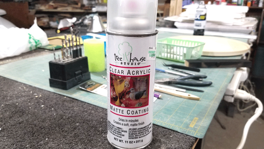 Clear coat sealer I used to see if the paint would peel off.