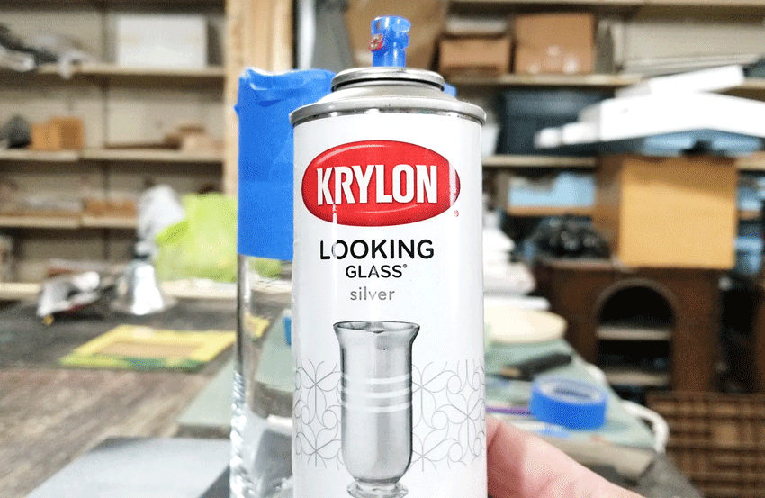 Krylon Looking Glass paint spray can.