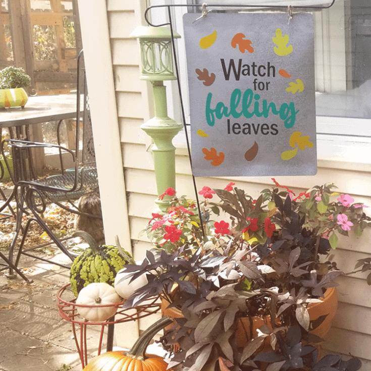 Finished DIY metal look garden sign
