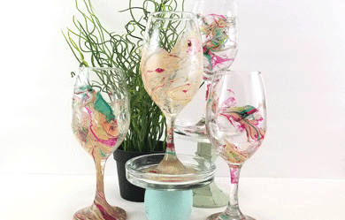Nail Polish Wine Glasses