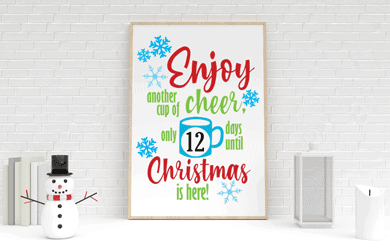 Countdown To Christmas Free Cut File