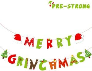 Merry Grinchmas party banner