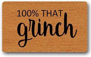 100% That Grinch door mat