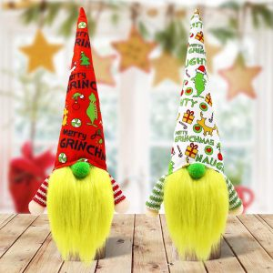 Merry Grinchmas gnomes - 2 piece set.