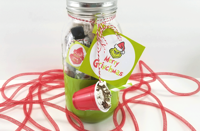 Finished Mason Jar Gift ready to give to a friend.