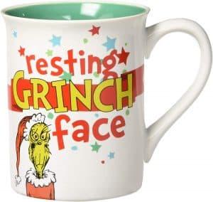 Dept 56 Resting Grinch Face mug