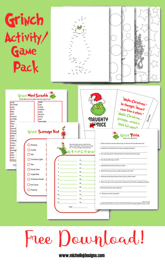 Activity pack pages ready to print and play