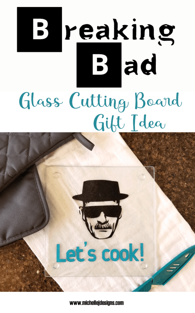 The finished Breaking Bad Glass Cutting Board