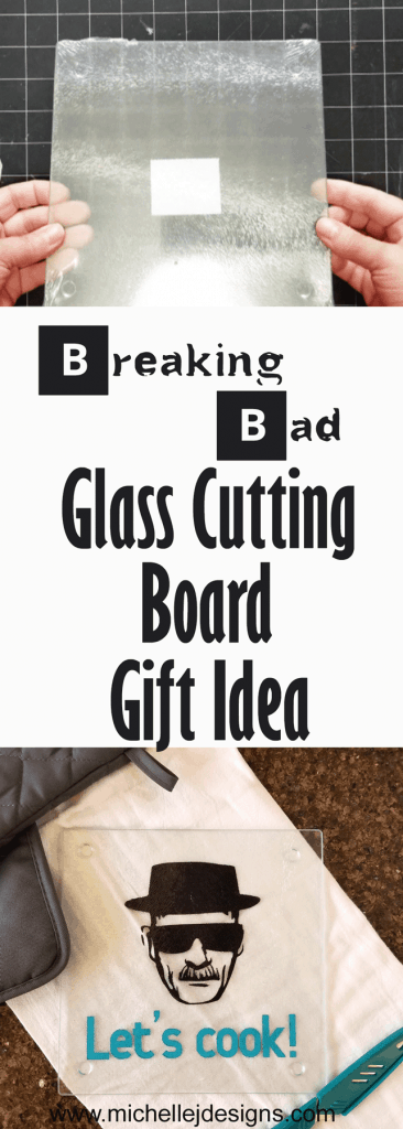 Finished Breaking Bad Glass Cutting Board gift idea.