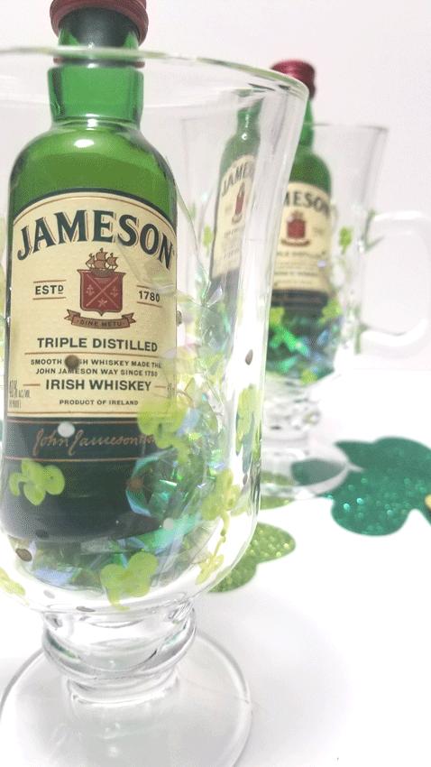Finished Irish Coffee Mug as a St. Patrick's Day gift idea