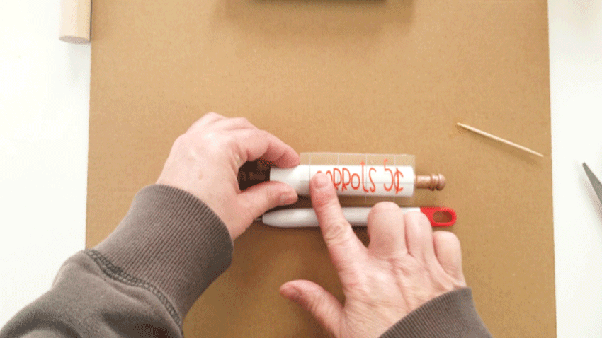 Adding vinyl text to my DIY mini wood rolling pins for Easter.