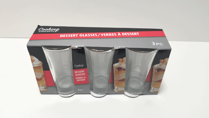 These Dollar Tree shot glasses make the perfect mini milkshake for a tiered tray.