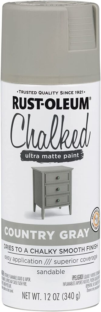 A picture of the chalked paint can from Rustoleum.