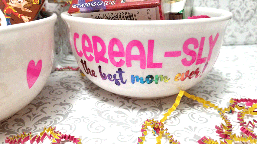 Finished Best Mom Ever cereal bowl.