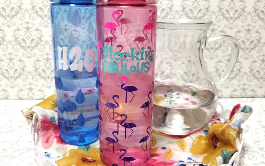 Finished skinny water bottles.