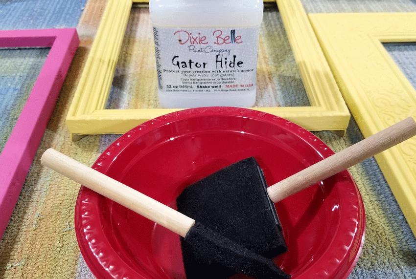 Gator Hide sealer for Dixie Belle chalk paint.