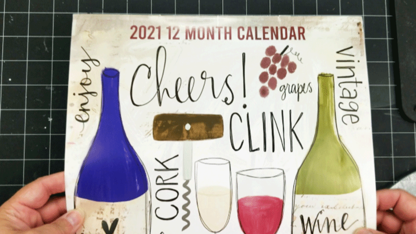 Front of the wine calendar from Dollar Tree
