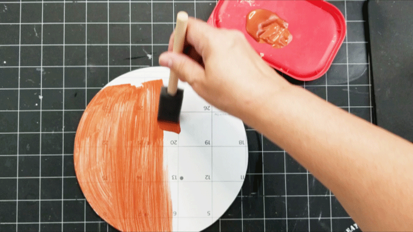 Using a metallic paint to cover the calendar boxes that show.