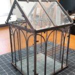 Mini greenhouse before it has been painted and distressed