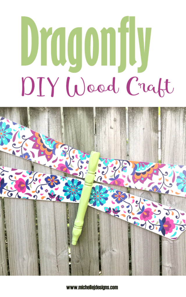 Finished dragonfly diy wood craft using Dixie Belle Paint Co transfers.