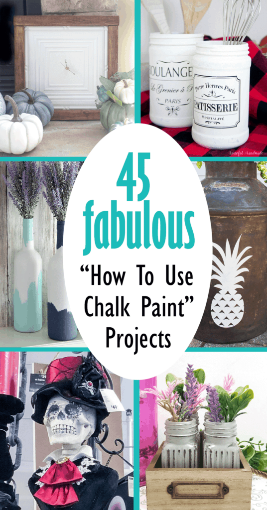 Images of chalk painted projects included in the round up of 45 fabulous chalk painted projects.