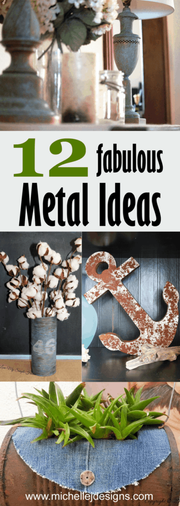A round up of 12 distressed metal finish ideas from creative bloggers