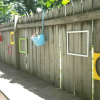 Finished chalk painted upcylcled frames to decorate my outdoor fence.