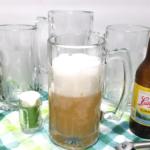 Finished personalized glass mugs using etching cream