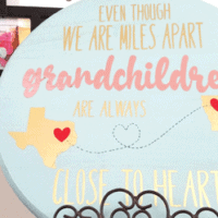 Finished DIY wood sign for Grandparent's Day featuring StyletechCraft vinyl.